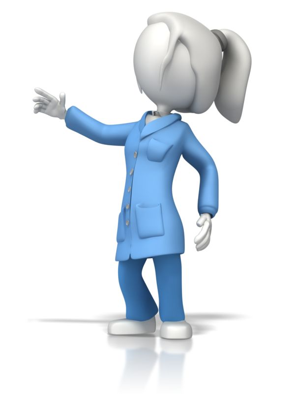Clipart - Esd Coat Lady Scientist