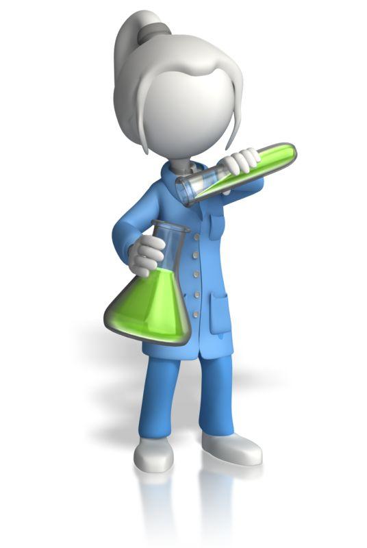 Clipart - Woman Scientist Pour Testtube