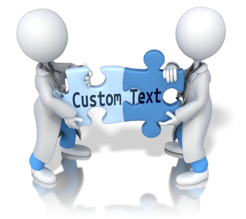 This Presentation Clipart shows a preview of Solving Custom Text Puzzle