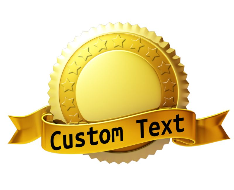 This Presentation Clipart shows a preview of Custom Gold Seal With Ribbon
