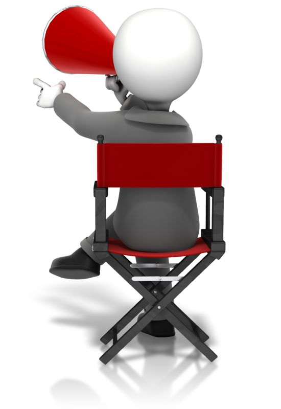 Clipart - Director Sitting In Chair