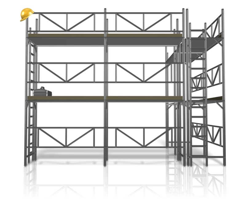 Clipart - Scaffolding Construction Area