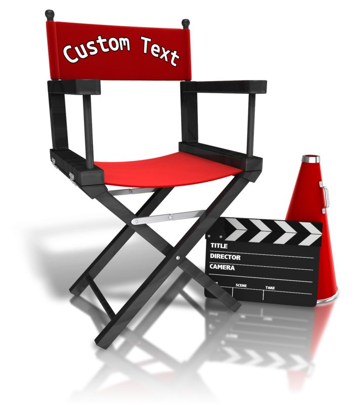 This Presentation Clipart shows a preview of Custom Movie Directors Equipment