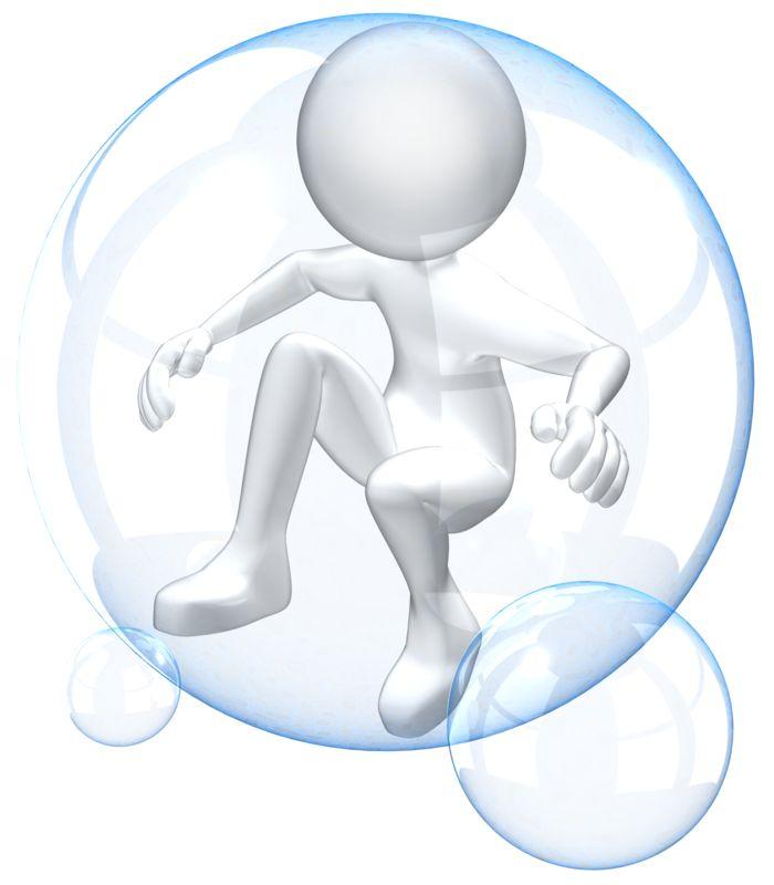 Clipart - Figure In Bubble