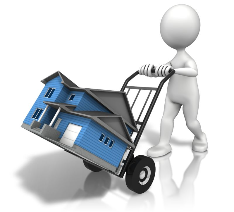 Clipart - House Moving Cart