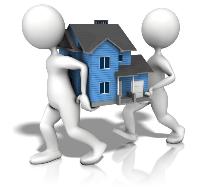 Clipart - Figures Carrying House