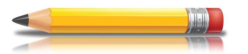 Clipart - School Pencil Profile