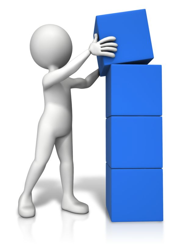 Clipart - Four Stack Block Figure