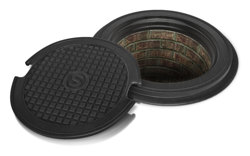 Clipart - Sewer Lid Off