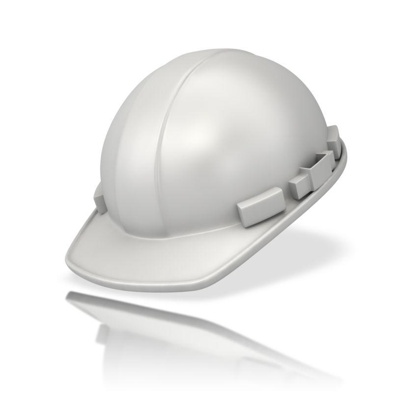 Clipart - Plain White Hardhat