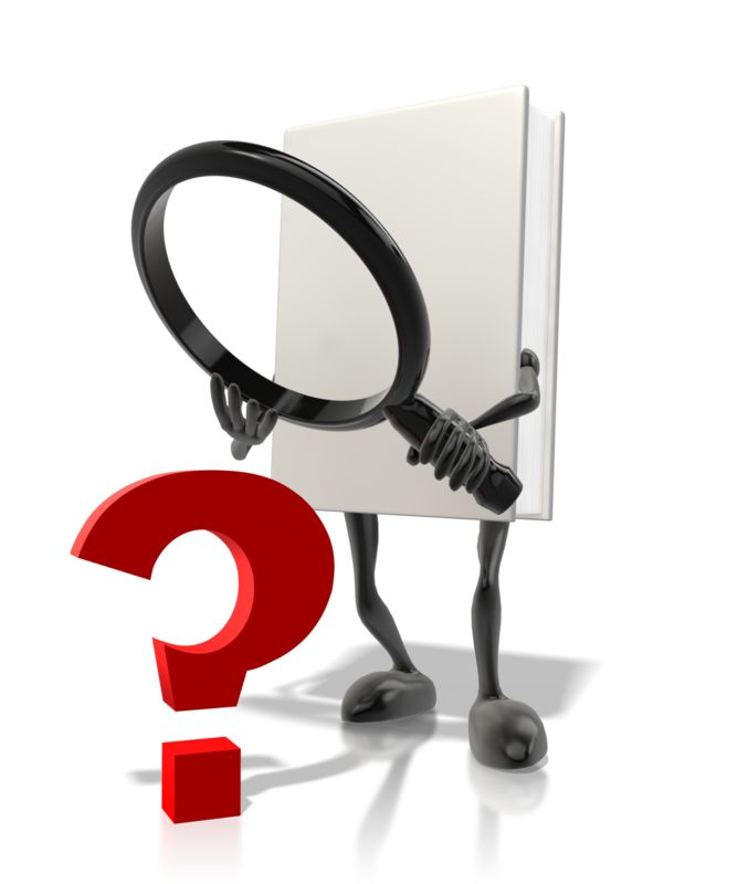 Clipart - Book Searching For Answers