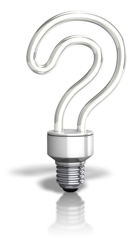 Clipart - Question Light Bulb