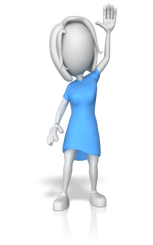 Clipart - Woman Raising Hands