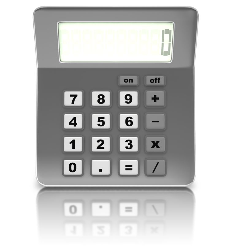 Clipart - Front Of Calculator