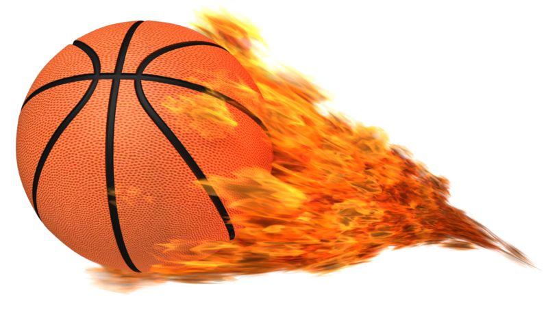 Clipart - Basketball Flaming