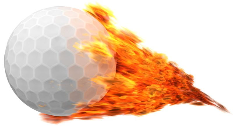 Clipart - Golfball Flaming