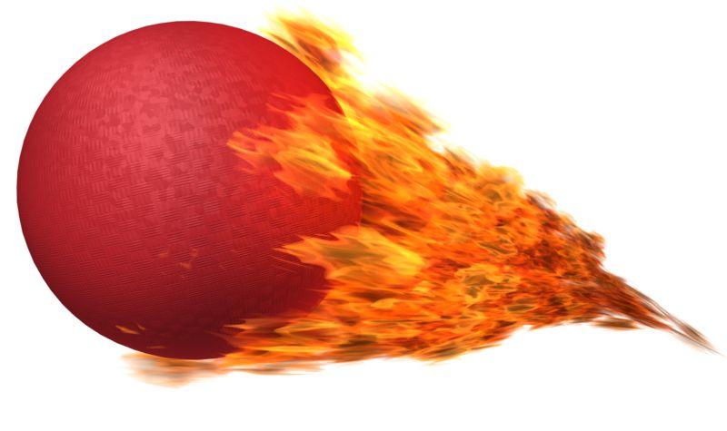 Clipart - Dodgeball Flaming