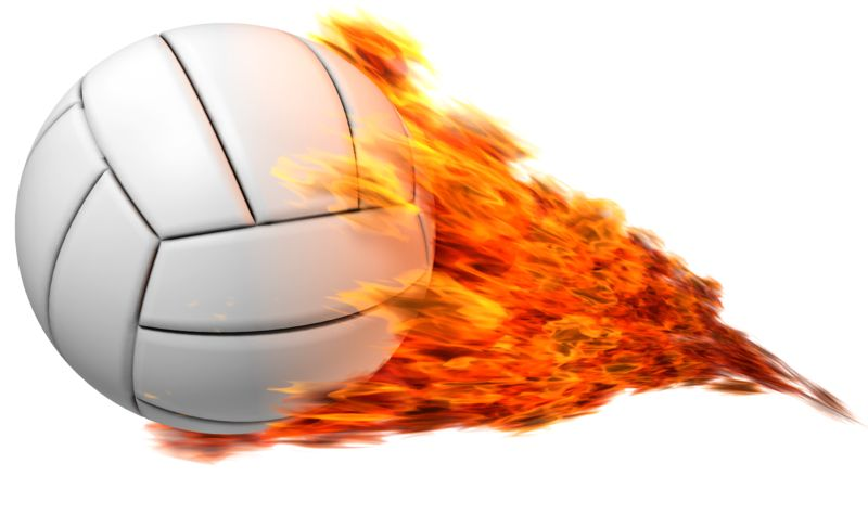 Clipart - Volleyball Flaming