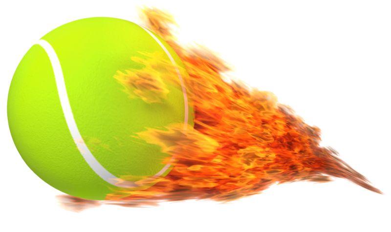 Clipart - Tennisball Flaming