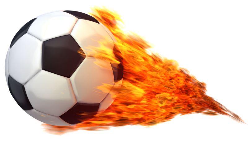 Clipart - Soccerball Flaming