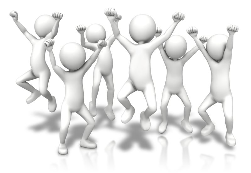 Clipart - Group Jumping Up