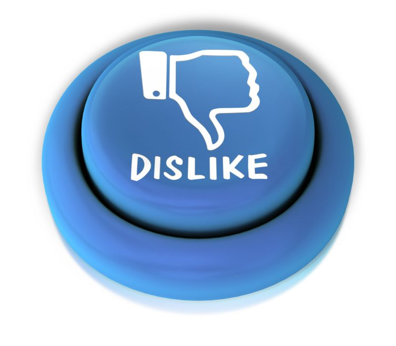 Clipart - Dislike Down Button