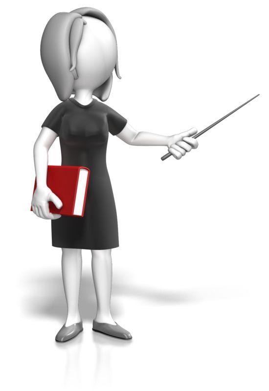 Clipart - Woman Teacher Book Point