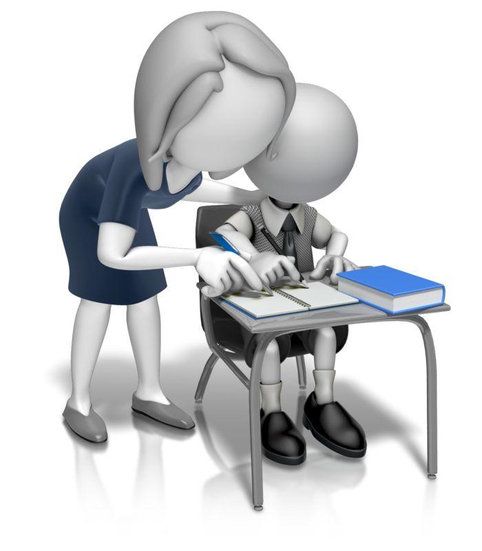 Clipart - Woman Teacher Helping