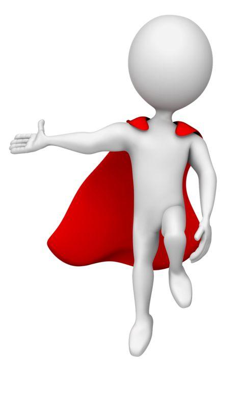 Clipart - Superhero Gesturing