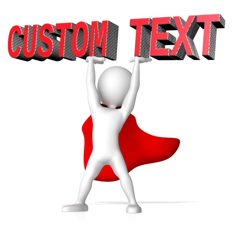 This Presentation Clipart shows a preview of Super Hero Lifting Text