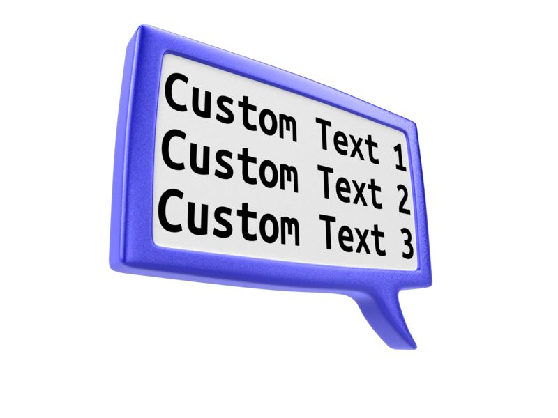 This Presentation Clipart shows a preview of Custom Square Discussion Box