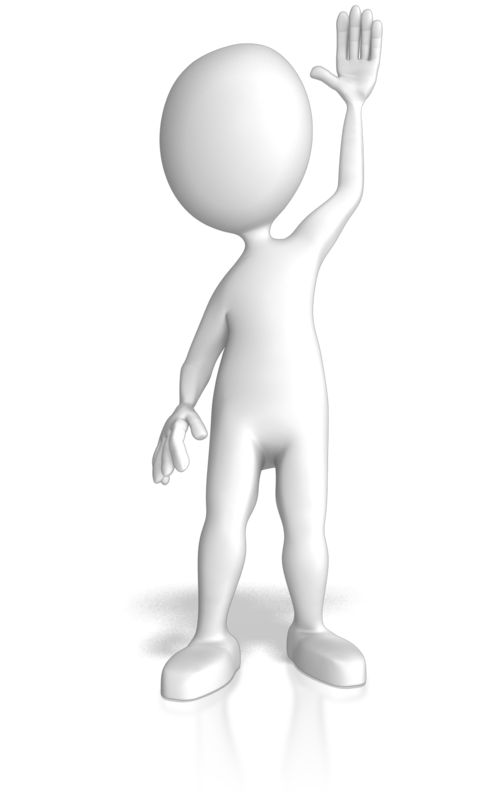 Clipart - Stick Figure Raising Hand