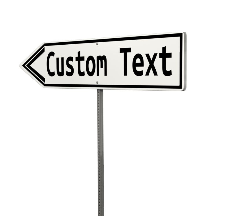 This Presentation Clipart shows a preview of Custom Single Arrow Street Sign