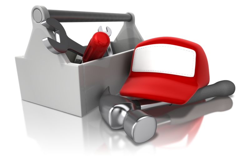 Clipart - Toolbox Rack And Hat