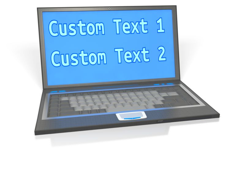 This Presentation Clipart shows a preview of Laptop Custom Screen