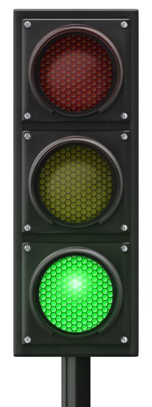Clipart - Traffic Light Green Front