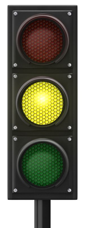 Clipart - Traffic Light Yellow Front