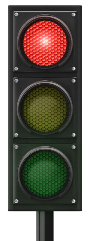 Clipart - Traffic Light Red Front
