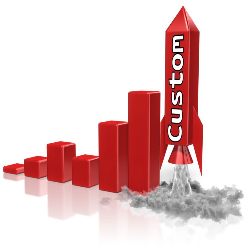 This Presentation Clipart shows a preview of Custom Rocket Graph