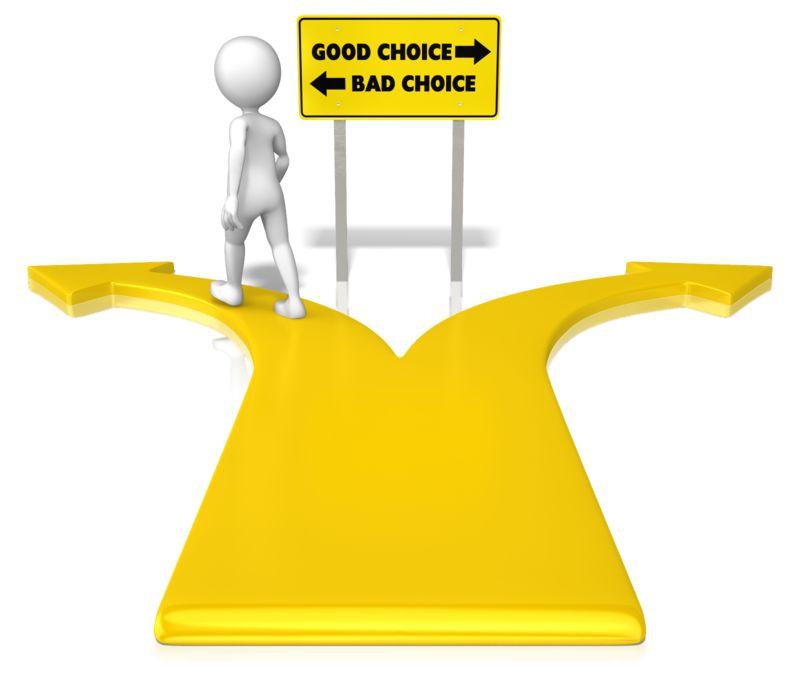 Clipart - Figure Bad Choice