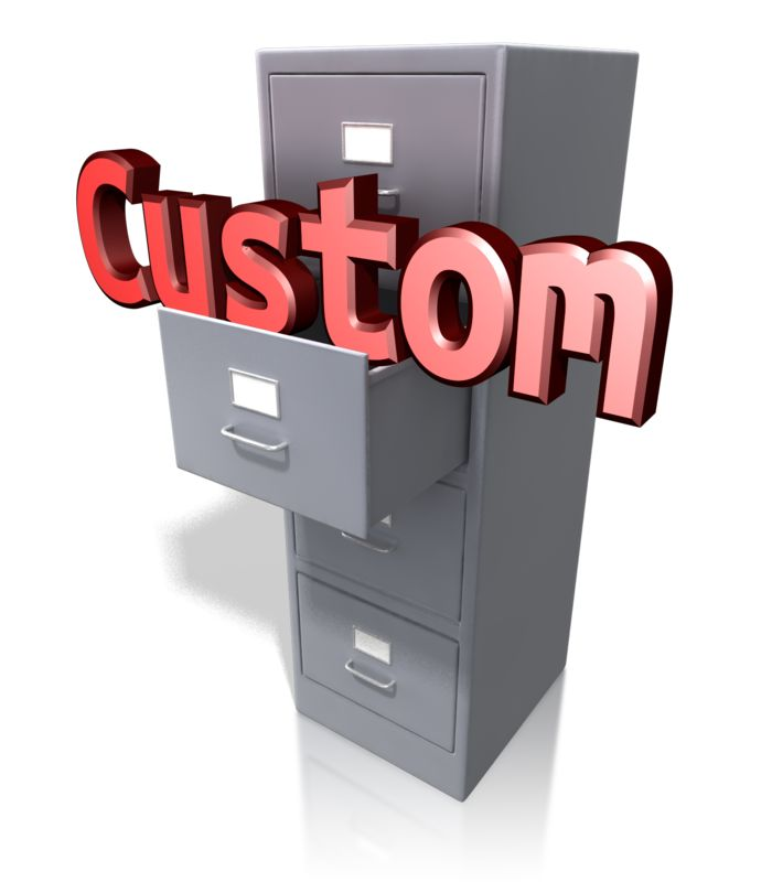 This Presentation Clipart shows a preview of Office Cabinet Custom Text