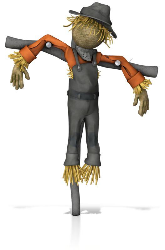 Clipart - Scarecrow Figure