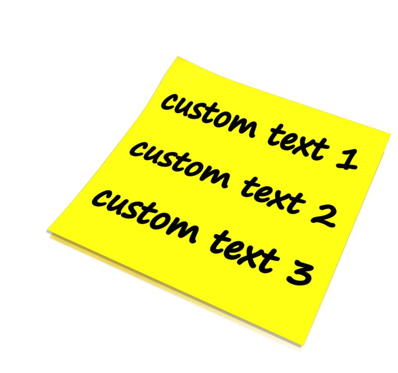 This Presentation Clipart shows a preview of Custom Blank Note