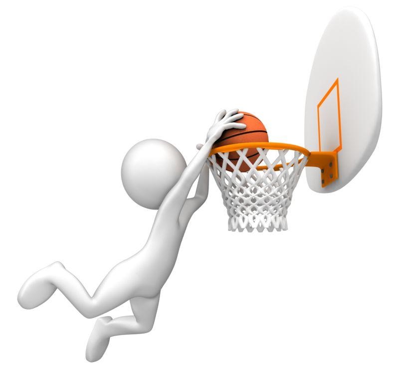 Clipart - Dunking Basketball Rim