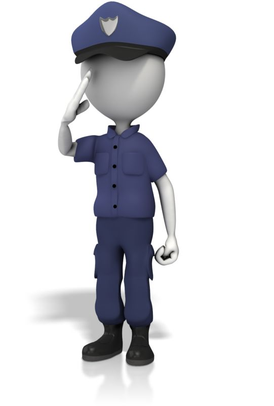 Clipart - Police Officer Salute