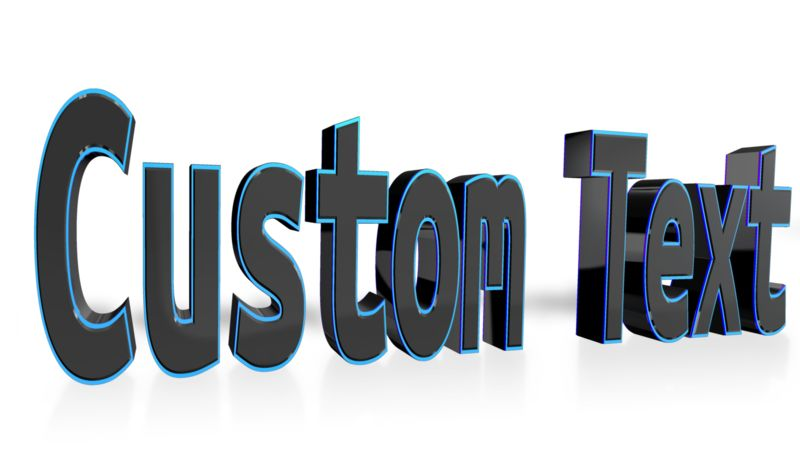 This Presentation Clipart shows a preview of Custom Text