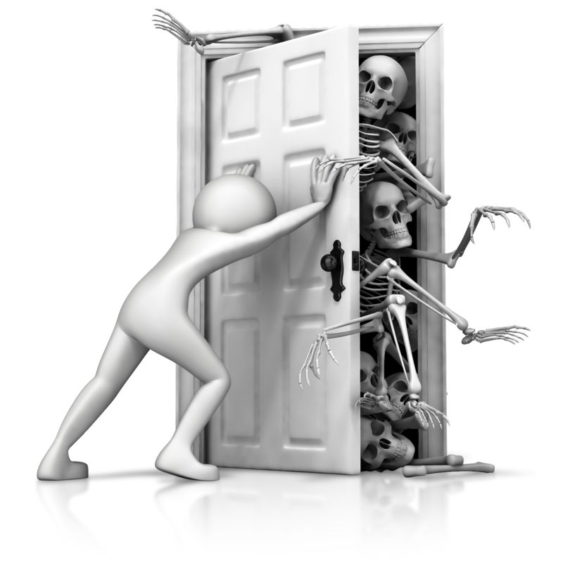 Clipart - Skeletons In Your Closet