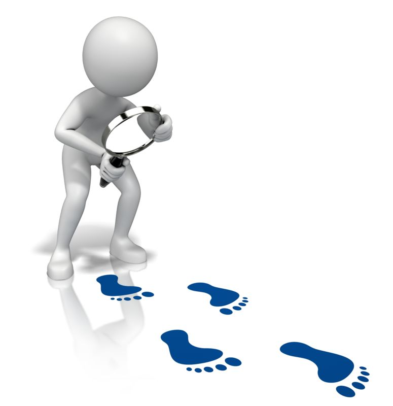 Clipart - Look Closely Footprints