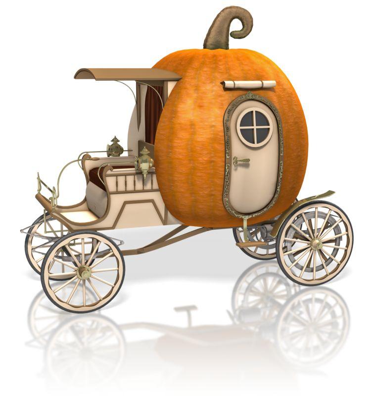 Clipart - Pumpkin Carriage