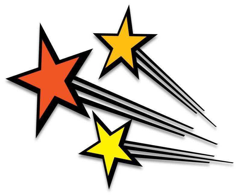Clipart - Shooting Stars